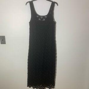 Forever 21 midi lace dress black plus size 1X